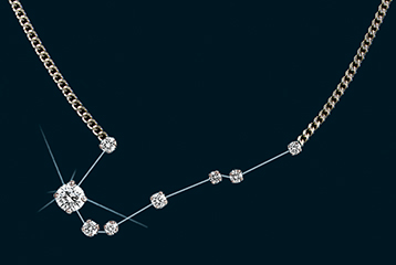 Diamond Constellation Southern Fishes Necklace 18