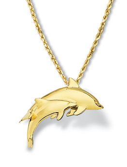 Dolphin Pendant Small Pair
