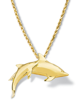Dolphin Pendant Large Pair