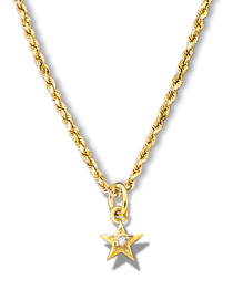 Star Miniature Pendant w/diamond