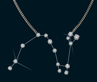 Diamond Constellation Draco Necklace 18