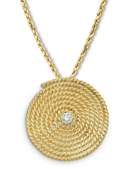 Flemish Coil Large with Diamond Pin/Pendant