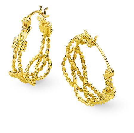 Aga Correa Son Since 1969 Lovers Knot Hoop Earrings Jewelry