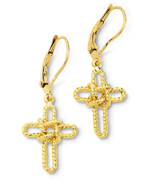 Sailors Cross Dangle Earrings