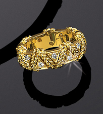 Rope Wrap Ring Diamond