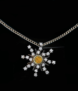 Diamond Sunburst Small Pendant