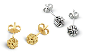 Monkey's Fist Miniature Hand-tied Stud Earrings