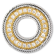 Rope Bands Circle Pin Diamond