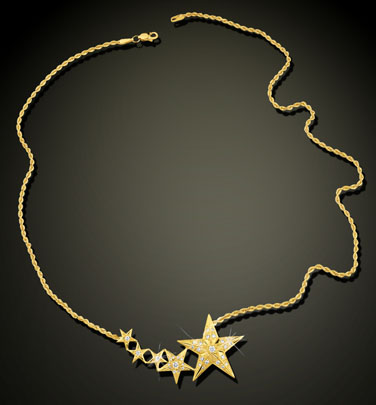 Five Star Diamond Necklace  16