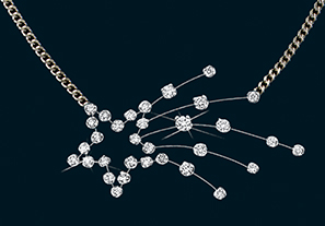 Diamond Shooting Star Necklace 18