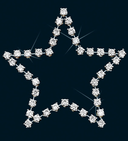 Diamond Star Pin