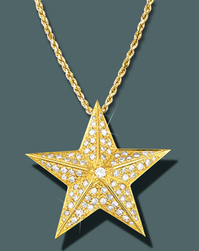 Star Faceted Diamond Pendant