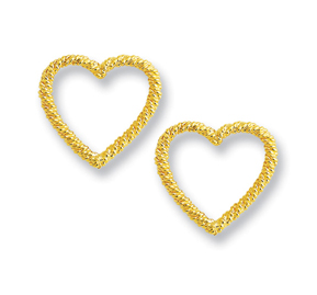 Rope Heart Small Earrings