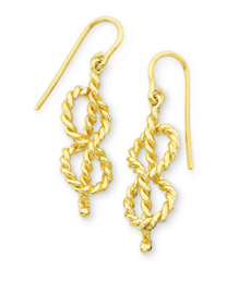 Figure Eight Knot Dangle Earrings
