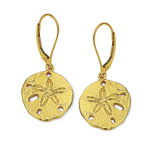 Sand Dollar Small Dangle Earrings