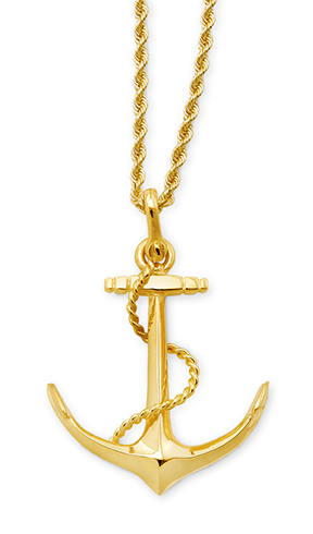 Anchor with Rope Pendant