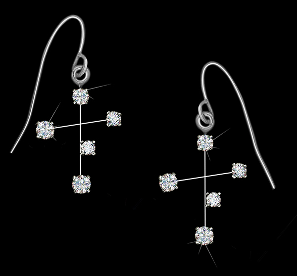 Diamond Constellation Southern Cross Earrings
