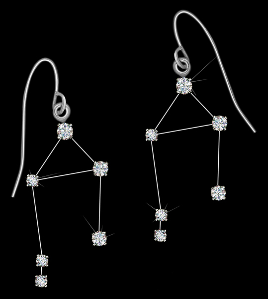 Diamond Constellation Libra Earrings