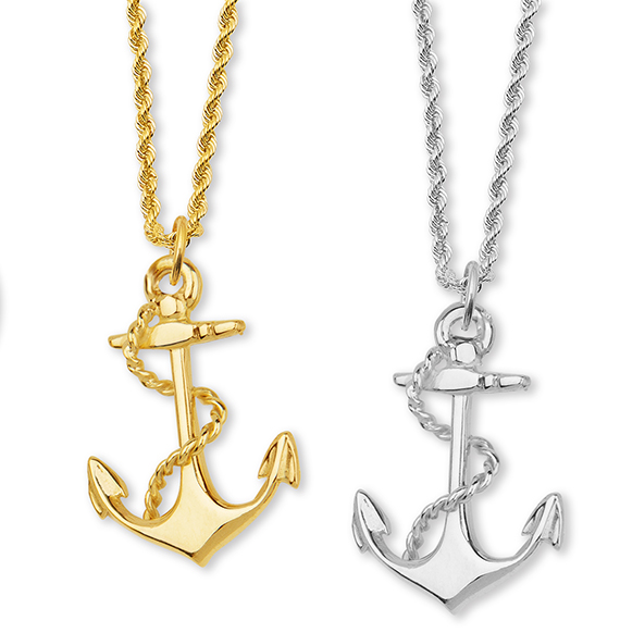 Anchor with Rope Small Pendant