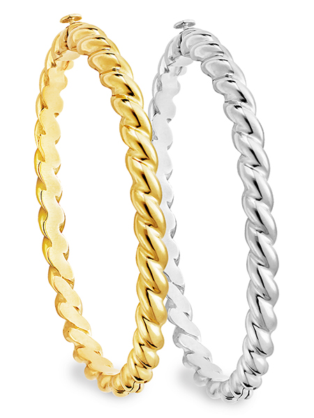 Twisted Rope Bangle Bracelet