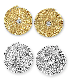 Flemish Coil w/Diamond Earrings