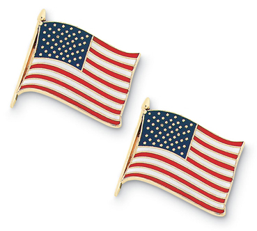 American Flag Enamel Cuff Links