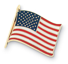 American Flag Small Enamel Pin