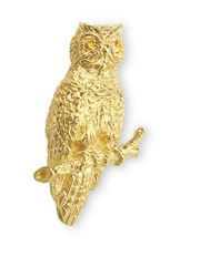 Owl with Yellow Sapphire Eyes  Pin