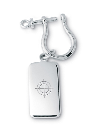 Center of Effort Key Ring Tag  with Shackle