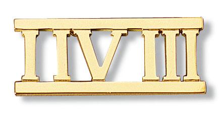 Aga Correa Amp Son Since 1969 1 4 3 Roman Numeral Pin