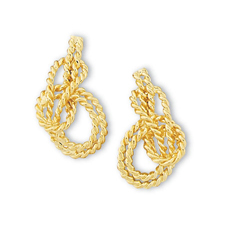 Bowline on Bight Miniature Stud Earrings