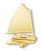 Catboat Pin Large