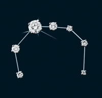 Diamond Constellation Corona Borealis Pin
