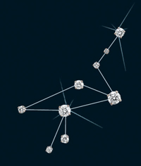 Diamond Constellation Crane Pin