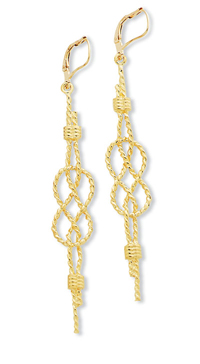 Lovers Knot Earrings -double carrick