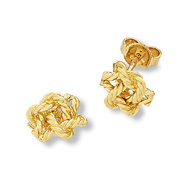 Double Overhand Stud Earrings