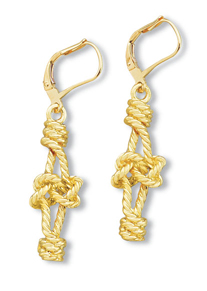 Double Overhand Knot Dangle Earrings