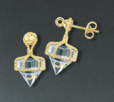 Deck Prism Crystal Stud Earrings