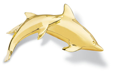 Dolphin Pin Large Pair
