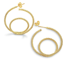 Rope Large Double Encircled Hoop Earrings
