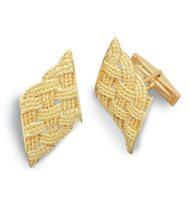 Prolong Knot 3 Strand Cuff Links