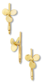 Propeller 3-Blade Dress Stud