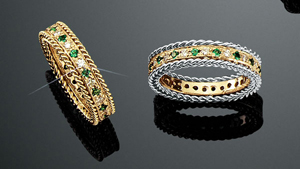 Rope Bands Ring Emerald/Diamond