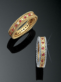 Rope Bands Ring Ruby/Diamond