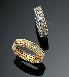 Rope Bands Ring Sapphire/Diamond