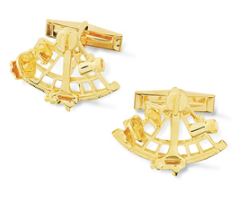 Sextant Cuff Links