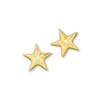 Star Miniature Earrings w/diamond